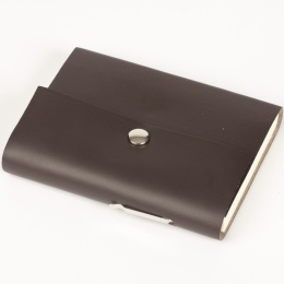 Address Book SCRIVO dark brown | A 5, 144 sheet