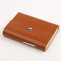 Address Book SCRIVO light brown | 12 x 16,5 cm, 48 sheet