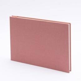 Post Bound Photo Album LEINEN dusky pink | 24 x 17,5 cm, 20 sheet cream