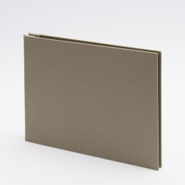 Post Bound Photo Album LEINEN olive | 24 x 17,5 cm, 20 sheet cream