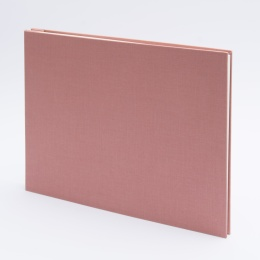 Photo Album (screwed) LEINEN dusky pink | 32 x 22,5 cm, 20 sheet creme