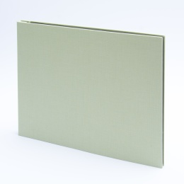 Post Bound Photo Album LEINEN celery green | 32 x 22,5 cm, 20 sheet cream