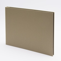 Post Bound Photo Album LEINEN olive | 32 x 22,5 cm, 20 sheet cream