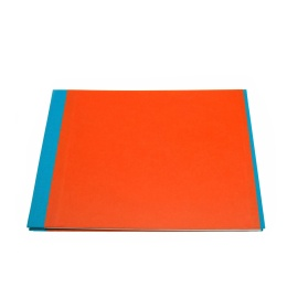 Post Bound Photo Album TRUE COLOURS turquoise/orange | 32 x 22,5 cm, 20 sheet cream