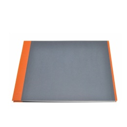 Post Bound Photo Album TRUE COLOURS orange/grey | 24 x 17,5 cm, 20 sheet cream