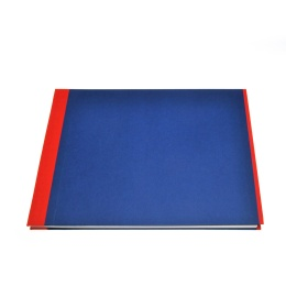 Post Bound Photo Album TRUE COLOURS red/blue | 32 x 22,5 cm, 20 sheet cream