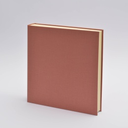 Photo Album LEINEN dusky pink | 30 x 30 cm, 30 sheet cream