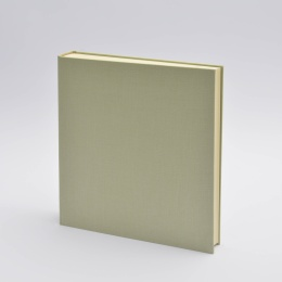 Photo Album LEINEN celery green | 30 x 30 cm, 30 sheet cream