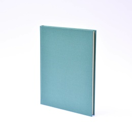 Diary LEINEN jade   17 x 24 cm,  1 week/double page