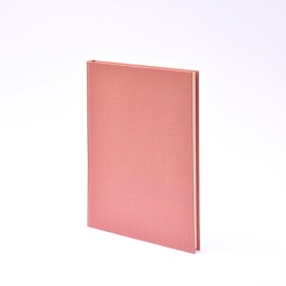 Diary LEINEN dusky pink | 17 x 24 cm,  1 week/double page