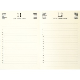 Diary CIRCUM light brown | 12 x 16,5 cm,  1 day/page