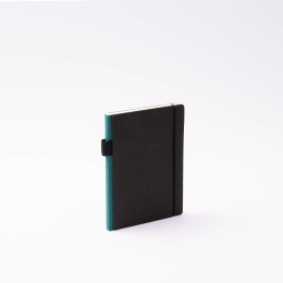 Diary CONTEMPORARY greenish blue | 12 x 16,5 cm,  1 week/double page