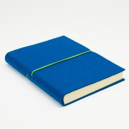 Diary FILZDUETT felt dark turquoise/elastic green | 17 x 24 cm,  1 week/double page