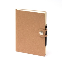 Diary LEFA light brown | 12 x 16,5 cm,  1 week/double page