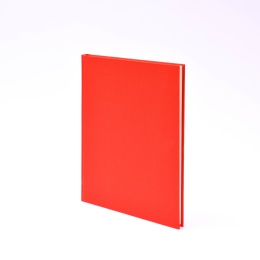 Diary LEINEN red | 17 x 24 cm,  1 week/double page