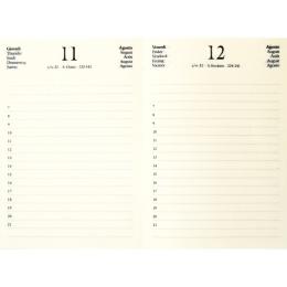 Agenda LEINEN night blue | 12 x 16,5 cm,  1 day/page