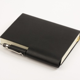 Diary STILUS black | 8 x 12,5 cm,  1 week/double page