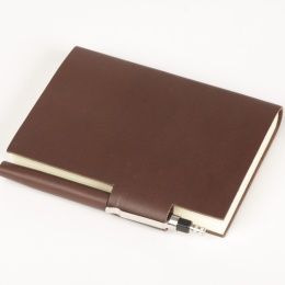 Diary STILUS dark brown | 9 x 13 cm,  1 day/page