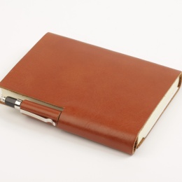 Diary STILUS light brown | 12 x 16,5 cm,  1 week/double page