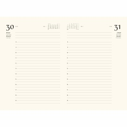 Daily Planner 2022 CIRCUM light brown   12 x 16,5 cm,  1 day/page