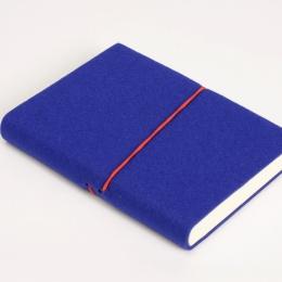 Week Planner 2022 FILZDUETT felt blue/elastic red | 12 x 16,5 cm,  1 week/double page