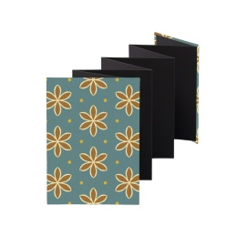 Leporello Album ALMA Avon Blue | 13 x 18 cm, portrait format, for 14 photos black