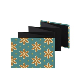 Leporello Album ALMA Avon Blue | 18 x 13 cm, landscape format, for 14 photos black