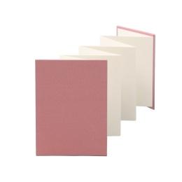 Leporello LEINEN dusky pink | 13 x 18 cm, portrait format, for 14 photos cream