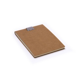 Note Pad CLIPPER light brown | A6, 50 sheet blank