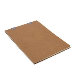 Note Pad CLIPPER light brown | A4, 50 sheet blank, 90 g