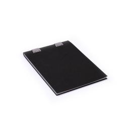 Note Pad CLIPPER black | A5, 50 sheet blank, 90 g