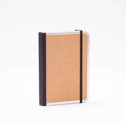 Notebook BASIC light brown | 12 x 16,5 cm, 144 sheet blank