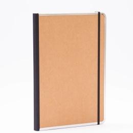 Notizbuch BASIC natur-braun | DIN A 4, 96 Blatt liniert