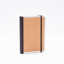 Notebook BASIC light brown | 12 x 16,5 cm, 144 sheet dot grid