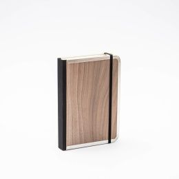 Notebook BASIC WOOD Nut | 12 x 16,5 cm, 144 sheet dotted