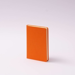 Notebook LEINEN orange | 9 x 14 cm, 96 sheet blank