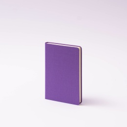 Notebook LEINEN lilac | 9 x 14 cm, 96 sheet blank