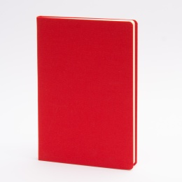 Notebook LEINEN red | A 5, 96 sheet blank