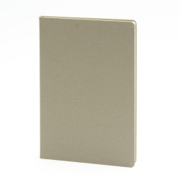 Notebook LEINEN olive | A 5, 96 sheet blank