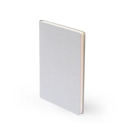 Notebook LEINEN light grey | A 5, 96 sheet dot matrix