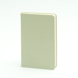 Notebook LEINEN celery green | 9 x 14 cm, 96 sheet dot matrix