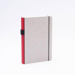 Notebook MINIMALIST GREY dark red | A5, 144 sheet blank