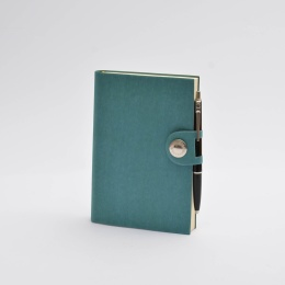 Notebook NOX turquoise | 12 x 16,5 cm, 144 sheet blank