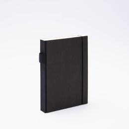 Notebook PURIST black | 12 x 16,5 cm, 144 sheet dot grid