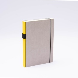 Notebook PURIST GREY yellow | A5, 144 sheet blank