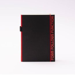 Notebook PURIST QUOTES red | A5, 144 sheet dot grid