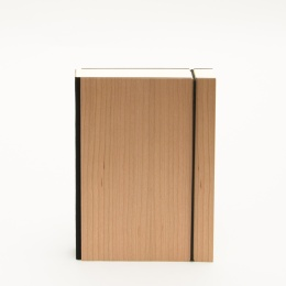 Notebook PURIST WOOD Cherry | 12 x 16,5 cm, 144 sheet blank