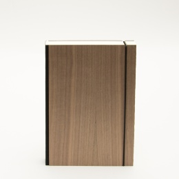 Notebook PURIST WOOD Nut | DIN A 5, 144 sheet lined