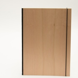 Notebook PURIST WOOD Cherry | DIN A 4, 96 sheet lined