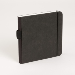 Notebook SCRIBBLE elastic black | 13 x 13 cm, 48 sheet blank